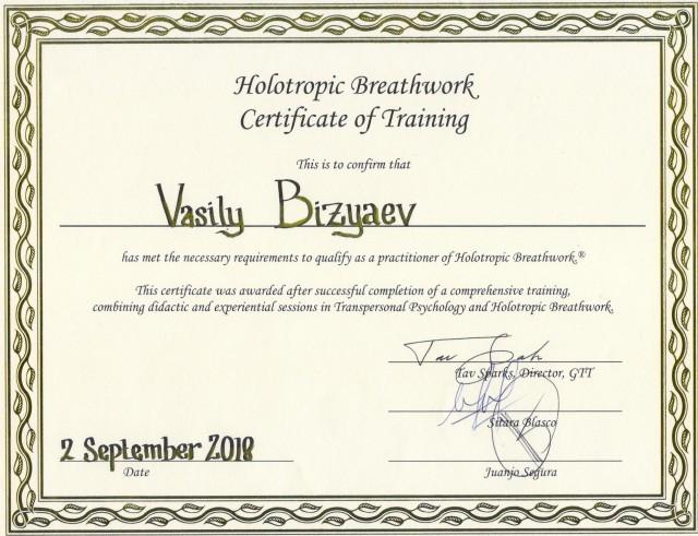 GTT-certificate